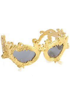 Jeremy Scott Sunglasses Antique Gold Baroque : Karmaloop.com - Global Concrete Culture