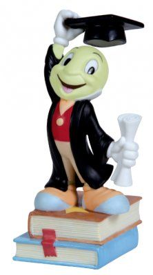 'May All Your Dreams Come True' - Jiminy Cricket graduate figure from Fantasies Come True