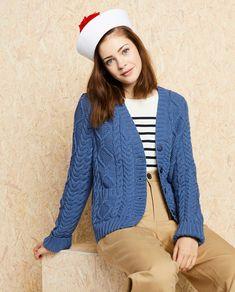 Modèle Gilet Femme Erina Phil Cabotine Cardigan Bleu, Pulls, Couture, Pattern, Sweaters, Style, Fashion, Woman, Templates Free