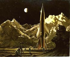 "Chesley Bonestell's ""Conquest of Space"" (1949)"