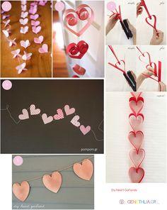 DIY Heart Garlands