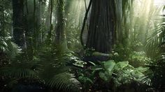matte painting forest - Google Search