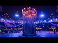 the amazing olympic cauldron.