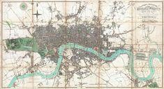 London England Antique Vintage Map Print 1806 by VintageMapQuest Old Maps Of London, London Map, Vintage London, London Free, East London, Antique Maps, Vintage Maps, Vintage Scrapbook, Christopher Wren