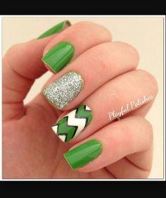 Green cheveron