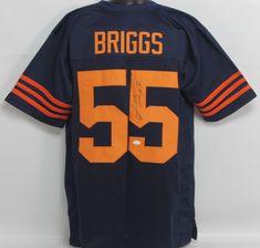 20d0ac69206 Lance Briggs Autographed Chicago Bears Navy Custom Jersey w/ JSA COA