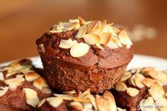 Muffinki kakaowe z fasoli. Cocoa muffins with beans.