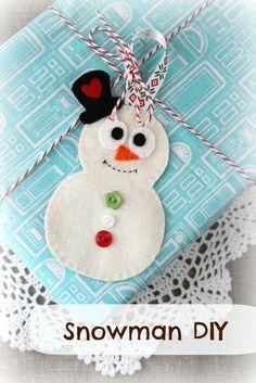 Plushka's craft: Snowman Christmas decoration DIY