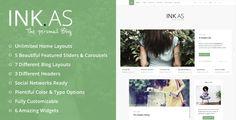 Inkas - The Personal Blog WP Theme . Inkas is a Clean Personal Blog WP Theme.If you are creating your personal blog, your personal site or your vCard you found the right template! Inkas is a MUST for people who likes the clean, cool and design for their sites. Your followers will have a relaxing reading experience, thanks to the both