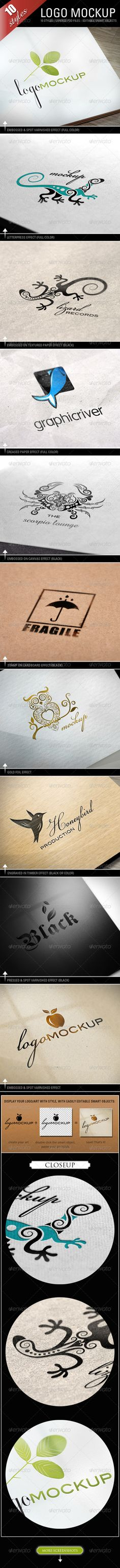 Logo Mockups - 10 Styles Graphic River