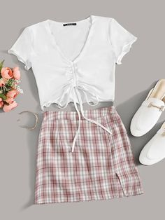 Girls Fashion Clothes, Teen Fashion Outfits, Mode Outfits, Retro Outfits, Girly Outfits, Cute Lazy Outfits, Trendy Summer Outfits, Stylish Outfits, Mode Top