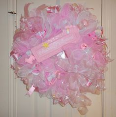 Princess of Everything Baby Girl Deco Mesh Wreath. Ramona Reindeer