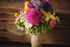 Colorful wedding bouquet - © Ryan Flynn Photography. www.ryanflynnphotography.net