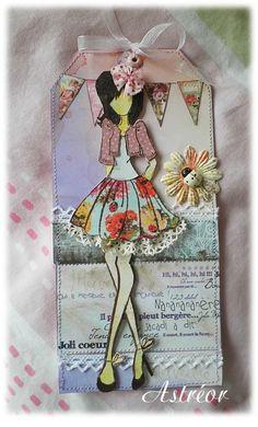 Demoiselle coccinelle - Doll stamp Prima
