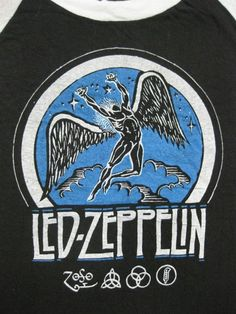 Vintage 70's LED ZEPPELIN T SHIRT mint small by rainbowgasoline, $200.00