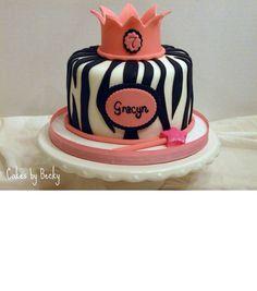 Pink Zebra Smash Cake