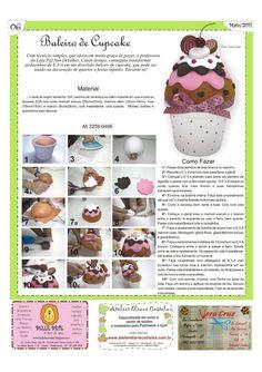 Fofuchas Eva e Cia: Baleiro Cupcake Passo a Passo