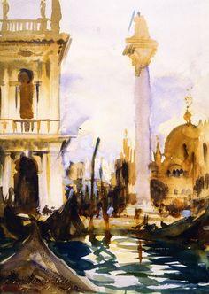 The Athenaeum - Piazzetta, No. 2 (John Singer Sargent - ) 1902-1904