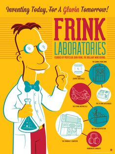 """Frink Laboratories"" Simpsons Print by Dave Perillo"