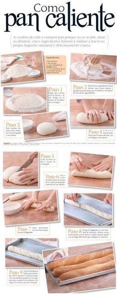 Cómo preparar pan en casa.