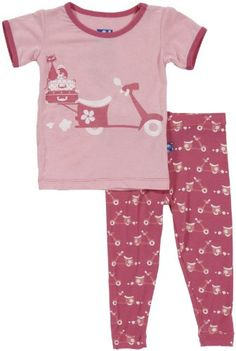 KicKee Pants Baby Girls Print Pajama Set Baby  Flamingo Moped  36 Months *** Continue to the product at the image link.