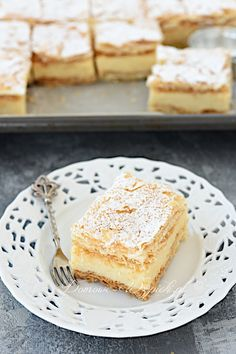 Napoleon- Cream Cake all from Scratch My Recipes, Cooking Recipes, Favorite Recipes, Ukrainian Recipes, Cake Bars, Cream Cake, I Love Food, Cake Cookies, Yummy Cakes