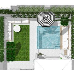 pool im garten small backyard w pool // swanbourne project Pools For Small Yards, Small Backyard Pools, Backyard Pool Designs, Swimming Pools Backyard, Swimming Pool Designs, Garden Pool, Pool Landscaping, Backyard Ideas, Balcony Gardening
