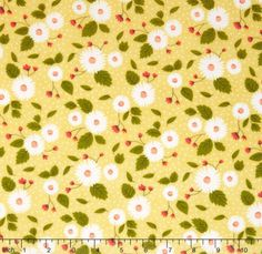 Little Miss Sunshine  Fresh Daisies Buttercup Yardage by