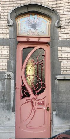 pink nouveau - Seriously, I want to design an entire art nouveau HOUSE around this door.