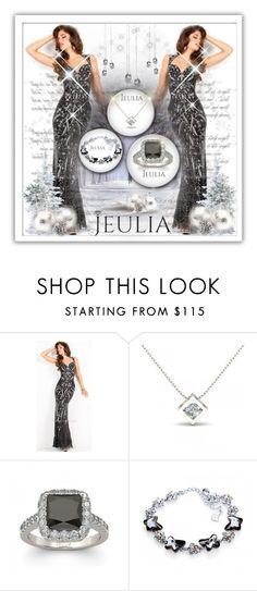 """Jeulia Jewelry-Black Passion.7"" by samirhabul ❤ liked on Polyvore featuring black and jeulia"
