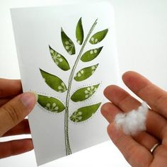 layer your die cut, piece of fabric and scrap CS. Put some batting in the area of the die cut opening between fabric and scrap CS, sew around to hold batting in place. Note nice puffiness of each leaf.