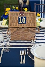 wedding picnic basket centerpiece - Google Search