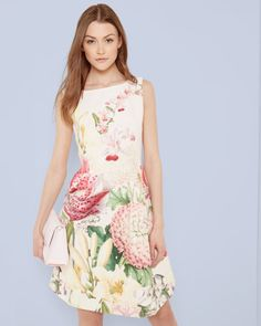 3343ad9a8e4ec2 Encyclopaedia Floral pleated dress - Nude Pink
