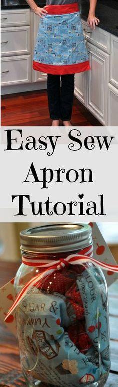 Easy Sew Apron in a Mason Jar