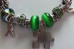 European Pandora style bracelet with glass beads and by RomansHope, $30.00