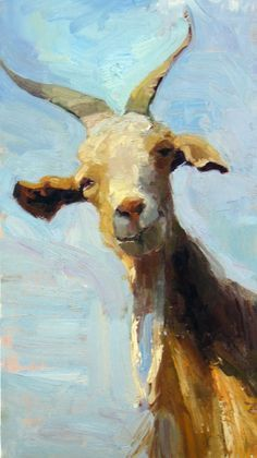 Artful Animals ♞ bird, dog, cat, fish, bunny and animal paintings - Jeanette Le Grue Goat Paintings, Animal Paintings, Animal Drawings, Art Drawings, Goat Art, Farm Art, Fauna, Wildlife Art, Beautiful Paintings