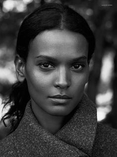 Liya Kebede by Ward Ivan Rafik for Rika F/W 2014 | The Fashionography