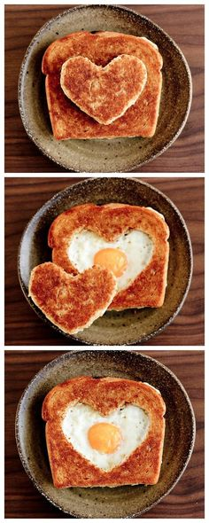 Serve up an awesomely appropriate breakfast — like this Valentine's Day egg in the basket.