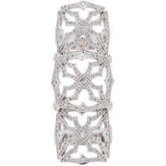 Loree Rodkin Triple Queen's Maltese Ring (£17,238) ❤ liked on Polyvore featuring jewelry, rings, maltese cross ring, white gold jewellery, 18k ring, triple ring and 18k white gold ring