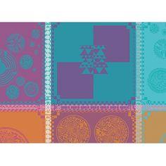 Set de table fantaisie Garnier-Thiebaut - Modèle : Mille batik - Set de table en coton - Coloris : multicolore
