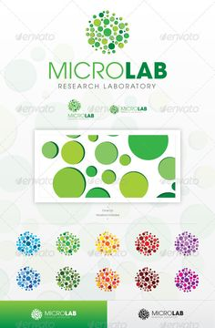 Micro Lab #GraphicRiver An excellent logo template suitable for Scientific Research, Laboratory, Chemistry and Medical businesses among others. This file is easy to edit with highly organized layers, and contains: Resisable Vector logo; Vector Horizontal and Vertical display; Symbol's high resolution files, ready to use; Symbol's Color Variations as shown in the preview; Vector Greyscale version; Vector Black and White version; Read-me file with links to Custom Fonts....