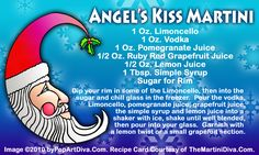 ANGEL'S KISS CHRISTMAS MARTINI recipe on a Free Recipe Card - Click the image for the Full Sized, Print Quality Recipe Card!
