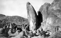 Forms of weathered granite in the Alabama Hills, Owens Valley. Inyo County, California. 1905.