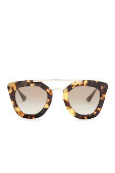 Prada Women's Oversized Brow Bar Plastic Frame Sunglasses