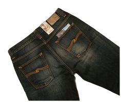 NUDIE 'STRAIGHT ALF ORGANIC CLASSIC WORN' JEANS MEN'S 34, Authentic - RRP $250+