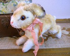 Vintage Steiff Mohair Hoppy Bunny Rabbit Rare Large Antique Toy