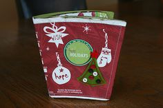 A mini photo book made from a Starbuck's cup...I made this last year and it is sooooo darling!!