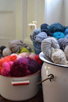 Yarn storage // #handmade with care