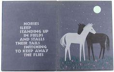 sleepy book, horses