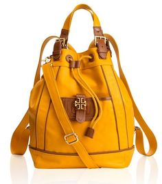 Tory Burch backpack #yellow #bag